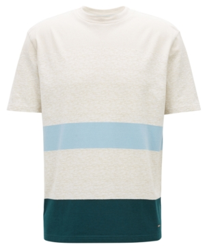 Boss Men's Striped Cotton T-Shirt