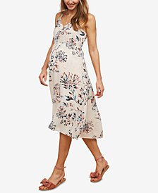 Motherhood Maternity Floral-Print Midi Dress