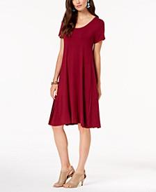 Petite Short-Sleeve A-Line Dress, Created for Macy's