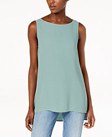Eileen Fisher Silk Shell Tunic