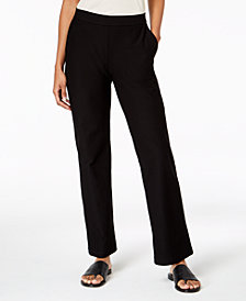 Eileen Fisher Washable Crepe Straight-Leg Pants, Regular & Petite