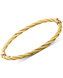 Twist Bangle Bracelet in 14k Gold