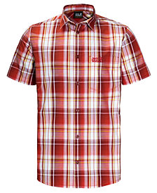 Jack Wolfskin Men's Hot Chili Plaid Short-Sleeve Shirt from Eastern Mountain Sports