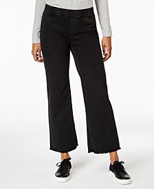 Eileen Fisher Raw-Edge Pull-On Jeans in Regular & Petite Sizes