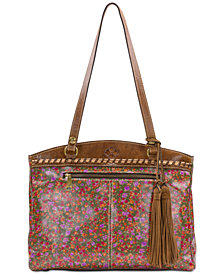 Patricia Nash Peruvian Fields Poppy Zip Top Tote