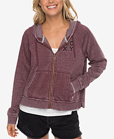 Roxy Juniors' True To Life Graphic-Print Hoodie