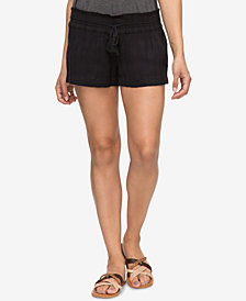 Roxy Juniors' Oceanside Textured Soft Shorts