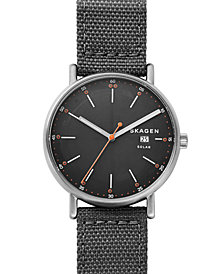 Skagen Men's Solar Signatur Gray Recycled Woven Watch SKW645