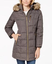 MICHAEL Michael Kors Petite Faux-Fur-Trim Puffer Coat