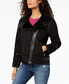 MICHAEL Michael Kors Faux-Shearling Moto Jacket