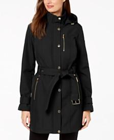 MICHAEL Michael Kors Hooded Raincoat