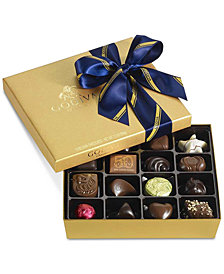 Godiva 19-Pc. Gold Gift Box With Blue & Gold Ribbon