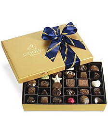 36-Pc. Gold Gift Box With Blue and Gold Ribbon