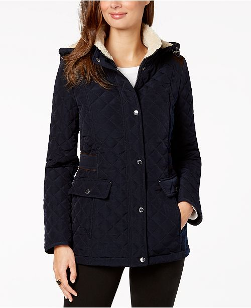 Coat Shelli Lined by Navy Fleece Pretoria Laundry Hooded Segal 6SUPwqxF