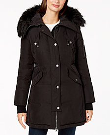 BCBGeneration Faux-Fur-Trim Anorak