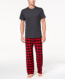 Club Room Men's Buffalo Plaid Pajama Set, Created for Macy's