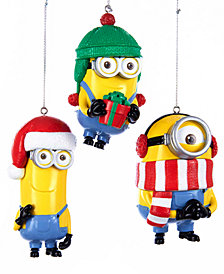 Kurt Adler Despicable Me Ornaments, Set of 3