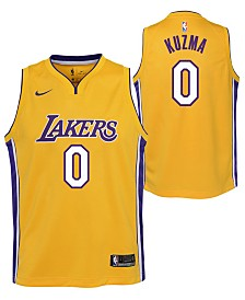 Nike Kyle Kuzma Los Angeles Lakers Icon Swingman Jersey, Big Boys (8-20)