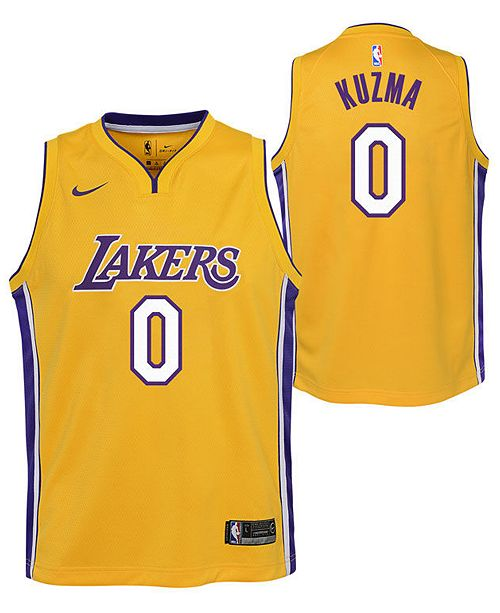 894bca177e8 ... Nike Kyle Kuzma Los Angeles Lakers Icon Swingman Jersey