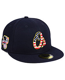 New Era Boys' Baltimore Orioles Stars and Stripes 59FIFTY Fitted Cap