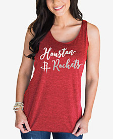 Gameday Couture Women's Houston Rockets Script Foil Tank