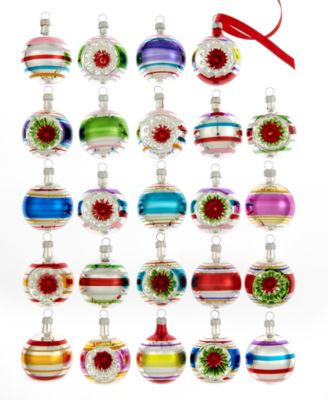 kurt adler set of 24 early years mini ball ornaments all holiday lane home macys
