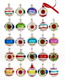Kurt Adler Set of 24 Early Years Mini Ball Ornaments