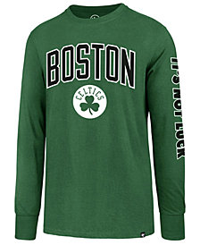 '47 Brand Men's Boston Celtics Super Rival Team Slogan Long Sleeve T-Shirt