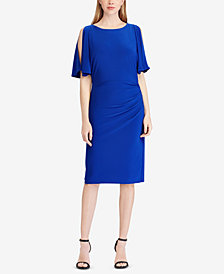 Lauren Ralph Lauren Plus Size Shirred Dress