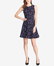 Tommy Hilfiger Boho Lace Fit & Flare Dress
