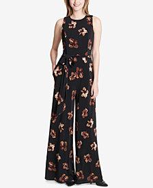 Tommy Hilfiger Floral-Print Jersey Jumpsuit