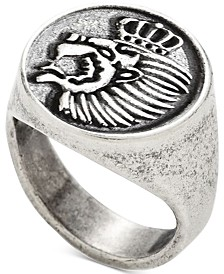 DEGS & SAL Men's Lion Crest Ring in Sterling Silver
