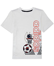 adidas Little Boys Sports-Print Cotton T-Shirt