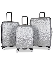 Aimee Kestenberg Geo Edge 3-Pc. Hardside Luggage Set