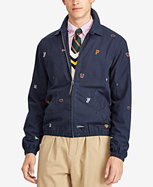 Polo Ralph Lauren Men's Bayport Embroidered Cotton Windbreaker