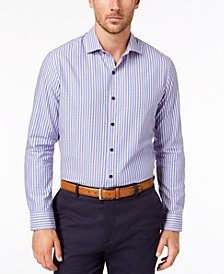 Tasso Elba Men's Tortelli Dobby Striped Shirt, Created for Macy's