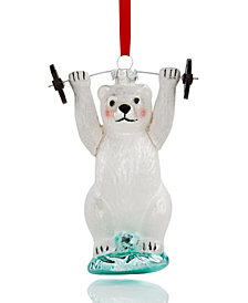 Holiday Lane Bear Weight Lifter Ornament, Created for Macy's