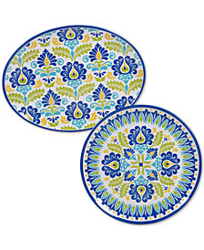 Certified International Martinique Melamine 2-Pc. Platter Set