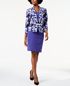Kasper Printed Blazer & Sheath Dress