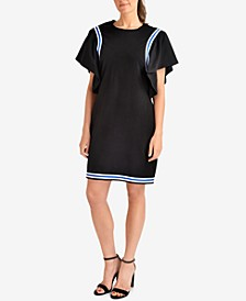 Ruffled Striped-Contrast Dress