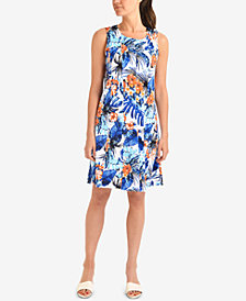 NY Collection Paneled Fit & Flare Sleeveless Dress