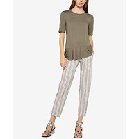 BCBGeneration Asymmetrical Back-Ruffle Top