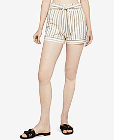 BCBGeneration Herringbone Stripe Paperbag Shorts