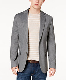Ryan Seacrest Distinction™ Men's Modern-Fit Gray Knit Sport Coat, Created for Macy's