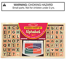 Melissa and  Doug Kids Toys, Kids Alphabet Block Stamp Set