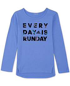 adidas Little Girls Runday-Print T-Shirt