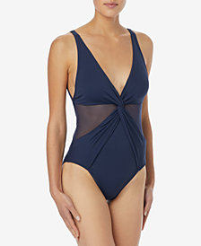 MICHAEL Michael Kors Illusion One-Piece Swimsuit
