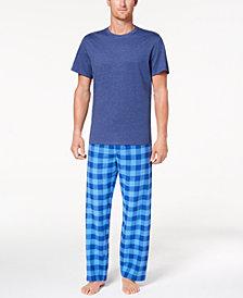 Club Room Men's Buffalo Plaid Pajama Set, Created for Macy's