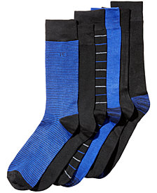 Perry Ellis Men's 6-Pk. Striped Dress Socks