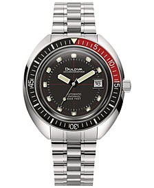 Men's Automatic Devil Diver Stainless Steel Bracelet Watch 44mm